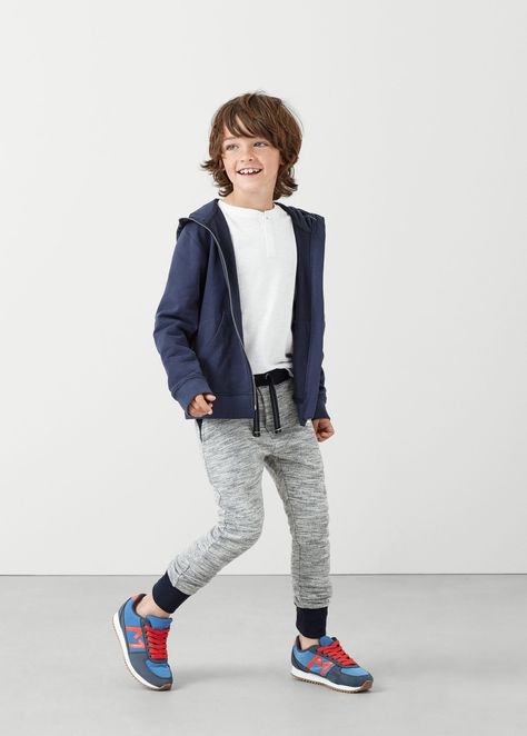 Flecked jogging trousers -  Kids | MANGO Kids Ireland