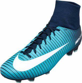 Chuteira De Campo Nike Hypervenom Azul Cano Alto