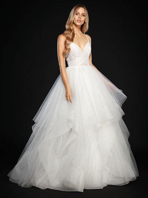 Brautkleid Mit Volantrock Und Spaghettitragern Hochzeitskleid Ballkleid Kleid Hochzeit Hochzeitskleid