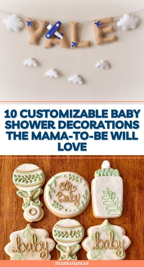 This list is to help you figure out how to decorate the baby shower and what to personalize to make the day extra special.