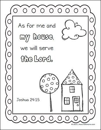 Home Themed Scripture Coloring Pages Free Printables Coloring
