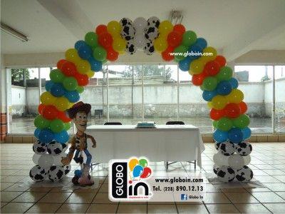 Arco De Globos De Toy Story Fiesta De Toy Story Decoración Con Globos Cumpleaños Cumpleaños De Toy Story