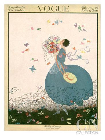 Pop Art Poster Print - Vogue Vintage Cover - July 1916 in