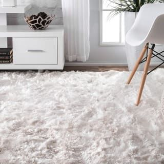 Nuloom Faux Flokati Sheepskin Soft And Plush Cloud White Shag Area Rug White Rug White Carpet Plush Rug