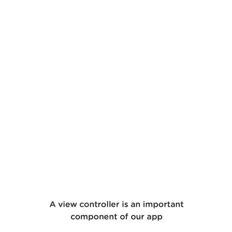 Intro to View Controllers