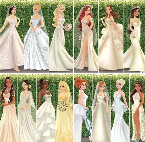 Cet illustrateur représente les princesses Disney le jour de leur mariage