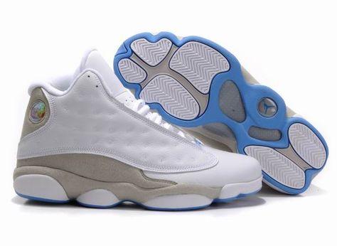 innovative design 3be59 78701 Air Jordan 13 Retro Shoes White Grey Blue