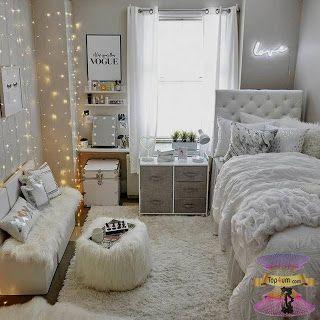غرف نوم بنات مودرن للصبايا من احدث ديكورات غرف الفتيات المراهقات 2021 Room Inspiration Bedroom College Room Decor Room Ideas Bedroom
