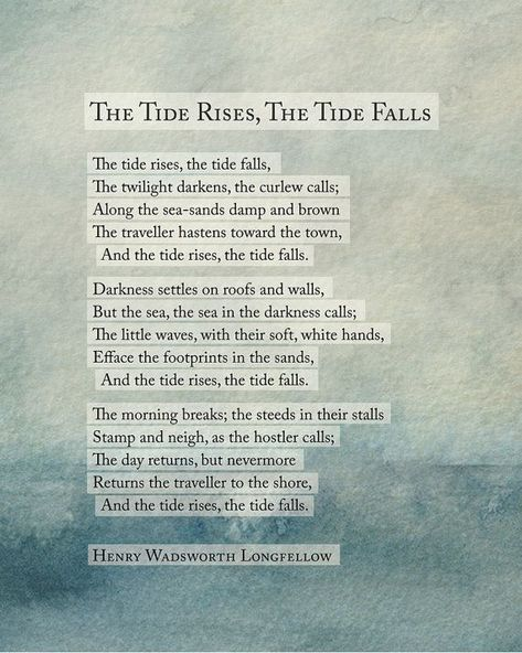 Henry Wadsworth Longfellow The Tide Rises by Riverwaystudios
