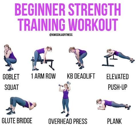 Kim Schlag Online Coach On Instagram Not Sure How To Start Strength Training Give This Workout A Go Not A Beginner These Exercises Can All Be Made More C