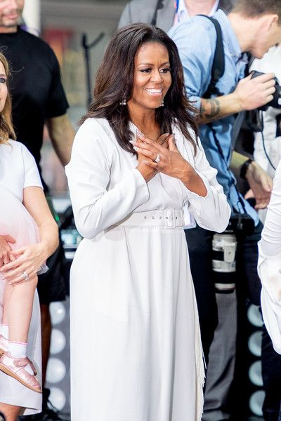 Michelle Obama attends as NBC's 'Today' celebrates the International Day Of The Girl at Rockefeller Plaza.
