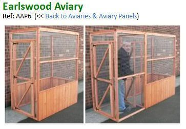The Photo Shows The Aviary With And Without The Safety Porch The Safety Porch Is An Added Extra See Below We Give You T Bird House Kits Aviary Parrot Cage