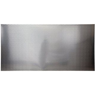 Fasade 4ft X 8ft X 013in Diamond Plate Brushed Aluminum Decorative Wall Panel Fast And Easy Installation Pvc Wall Panels Plastic Wall Panels Wall Paneling