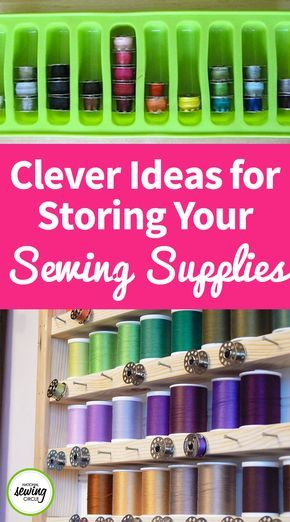 When it comes to sewing, most of us like to have a sewing studio that's organized in a way that all of our sewing supplies are easy to find. Not only can this make sewing more enjoyable, but it can make for more time sewing and less time spent looking for tools. Check out these five great ways to organize and store all of your sewing supplies.