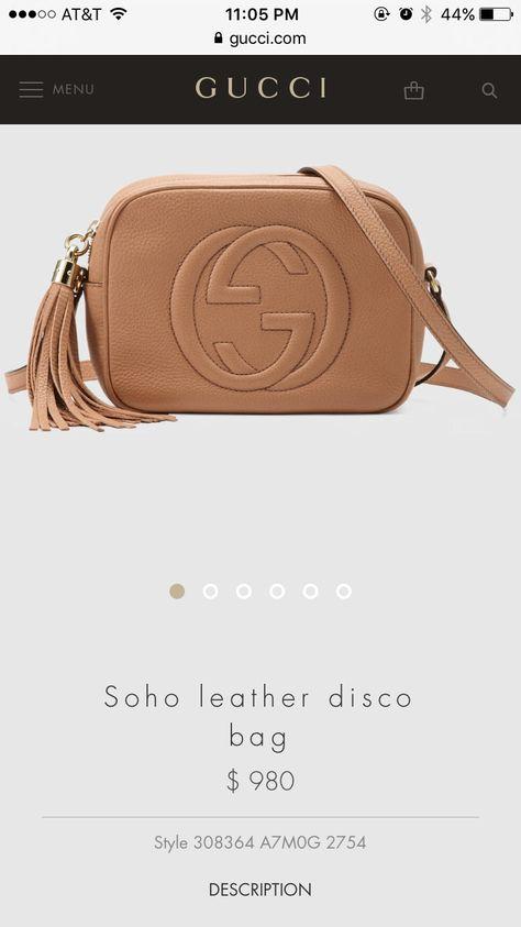 8a48c13c028c Pin by Michelle Walker on Things I Need | Gucci crossbody bag, Gucci soho  bag, Soho disco bag