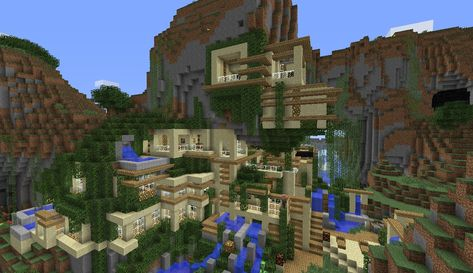 Minecraft House On The Side Of A Mountain Minecraft Pinterest