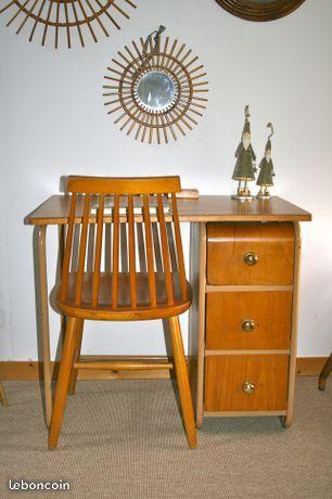 Bureau Designer Hitier Vintage Des Annees 50 60 Ameublement Gironde Leboncoin Fr Avec Images Ameublement Design Vintage