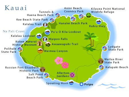 Map Kauai Kauai Road Map Inspiring World Map Design