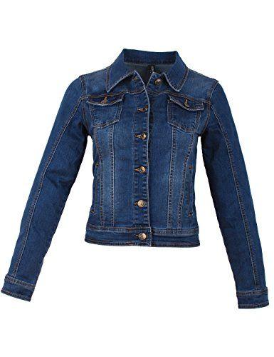 kauf verkauf Ausverkauf billiger Verkauf Fraternel Damen Jacke Jeansjacke Denim Jacket talliert ...