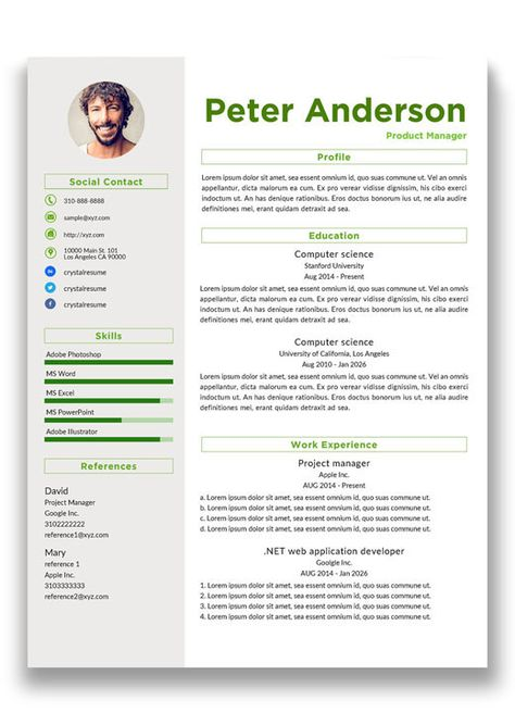 Resume 56 Resumes Design Pinterest - web application developer resume