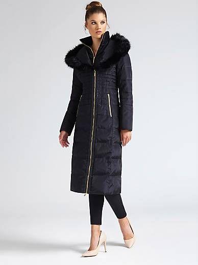 timeless design 9d8ad 160b3 PIUMINO MARCIANO CAPPUCCIO APRIBILE | GUESS.eu | Coat ...