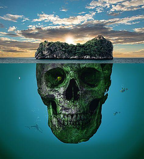 Creative posters skull island