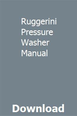 Ruggerini Pressure Washer Manual Repair Manuals Manual Manual Car
