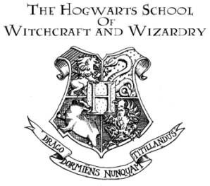 a nice graphic for hogwarts sign