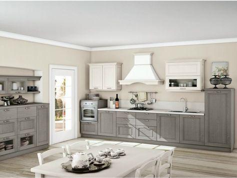 cucina classica legno bianco grigio - Google Search   Home decor ...