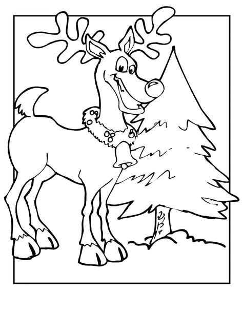 Free Printable Reindeer Coloring Pages For Kids Christmas Tree Coloring Page Tree Coloring Page Coloring Pages