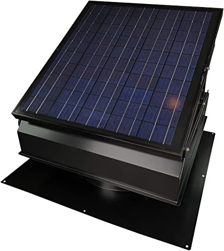 The Perfect 40 Watt Solar Attic Fan Bdb With Thermostat Humidistat Adapter 22 5 X 22 5 X 11 In Runs At In 2020 Solar Attic Fan Solar Powered Attic Fan Attic Fan