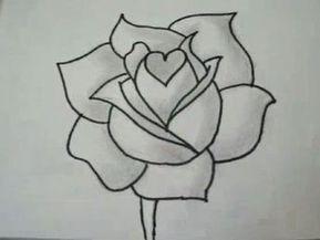 Goede Hoe een witte roos tekenen en schilderen | Roos tekeningen MK-66