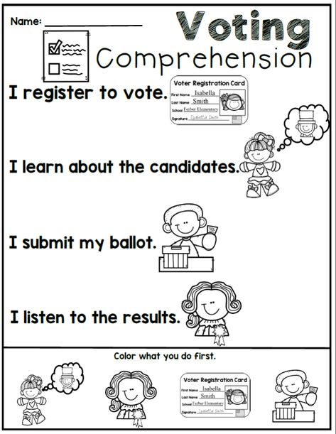 Pin On Fall Primary Resources Election worksheets for elementary students