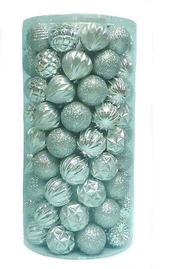 Home Accents Holiday 60mm Silver Multi Shape Shatter Proof Christmas Ornament 101 Pack The Home Depot Canada With Images Christmas Ornaments Home Accents Home Depot