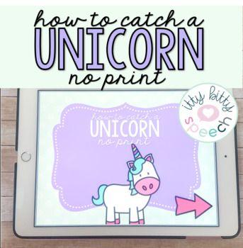 How To Catch A Unicorn No Print Book Buddy Spatial Concepts Print Book Vocab