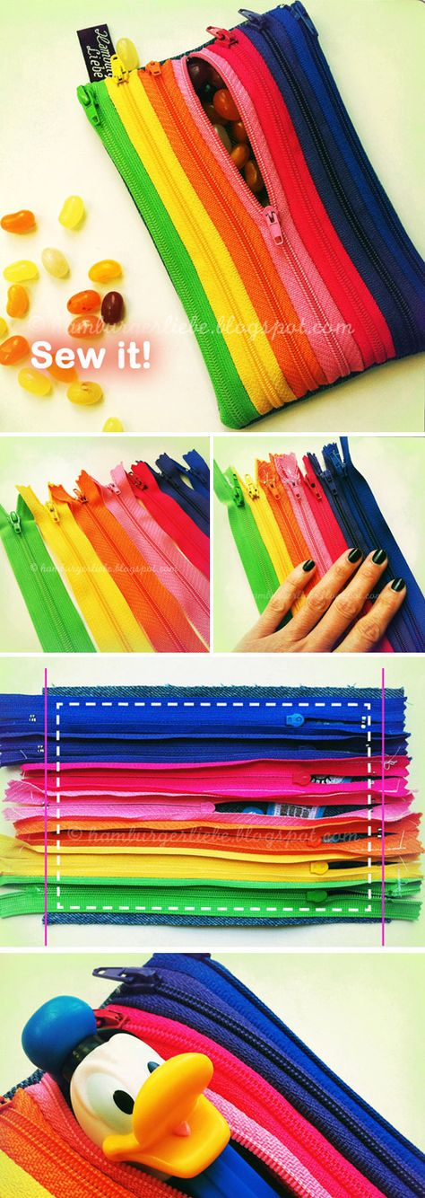 How to make Zippers Pencil Case. DIY Tutorial