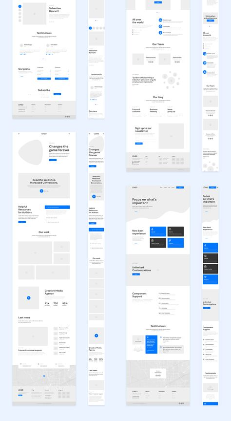 Many placeholders. Can see how scaling design will look Design Web, Sitemap Design, Layout Design, Web Design Mobile, Website Design Layout, Web Layout, Page Design, Mobile Web, Flat Design