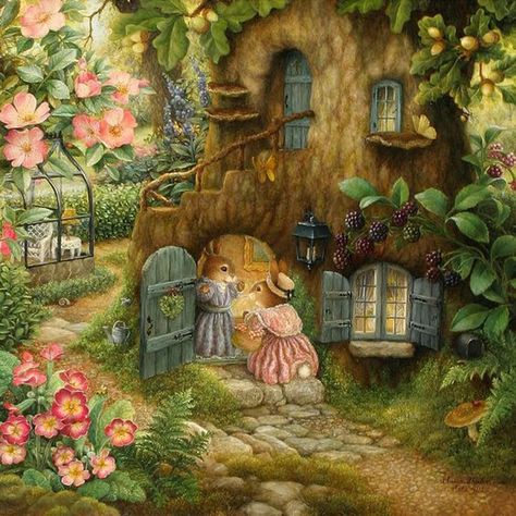 Forrest Bunnies - Diamonds cover the FULL painting - All Tools Included in the kit!