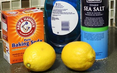 The acid in lemons makes them a great natural cleanser. If your shaving cream has left a rusty ring in your bathtub, use your lemon half to scrub it away. Baking soda is also one cleaning agent you don't want to be without. For most bathroom surfaces, a simple paste made of baking soda and water will do the trick.