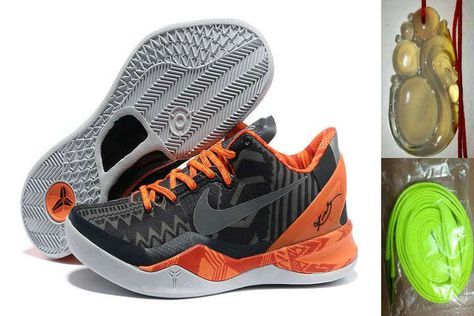 detailed look bb203 e7c37 Free Shipping to Buy Kobe 8 System Black History Month Anthracite Total  Orange 555035 001 with