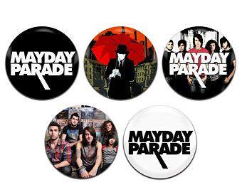 5x Mayday Parade Band Pop Punk Rock Emo 25mm / 1 Inch D Pin