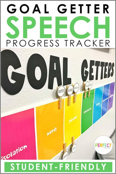 Goal Getters: Speech Therapy Clip Chart