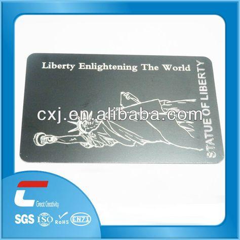 Die cut metal business card metal sublimation business card RFID - money receipt design