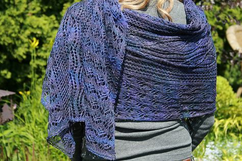 Mountain Colors Winter Lace Ravelry: Path of Flowers Stole pattern by Chrissy Gardiner