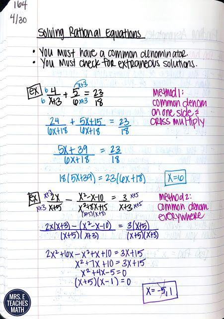 80 Rational Functions Ideas High School Math Lesson Plans High School Math Rational Function