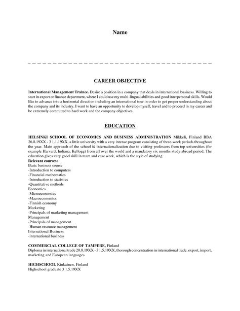 career objective resume sample examples for resumes job ledger - what are my career objectives