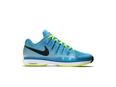 sports shoes 39eb6 feab6 Nike Zoom Vapor 9.5 Tour Men s Tennis Shoe, blue lagoon volt white classic  charcoal