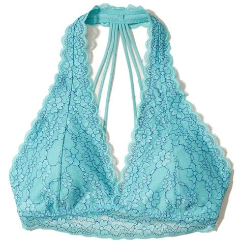 d615f12f016 Hollister Strappy Lace Halter Bralette With Removable Pads ( 17) ❤ liked on Polyvore  featuring