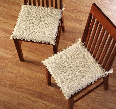 9 Best Crochet Dining Room Chair Covers, Orange Dining Room Chair Cushions