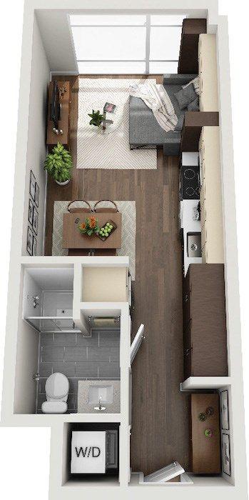 Micro Studio 1 2 3 Bedroom Apartments Lake Nona Pixon In 2020 Studio Apartment Floor Plans Studio Floor Plans Small Apartment Building